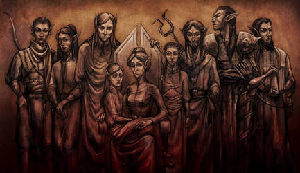 Dagoth family by RisingMonster