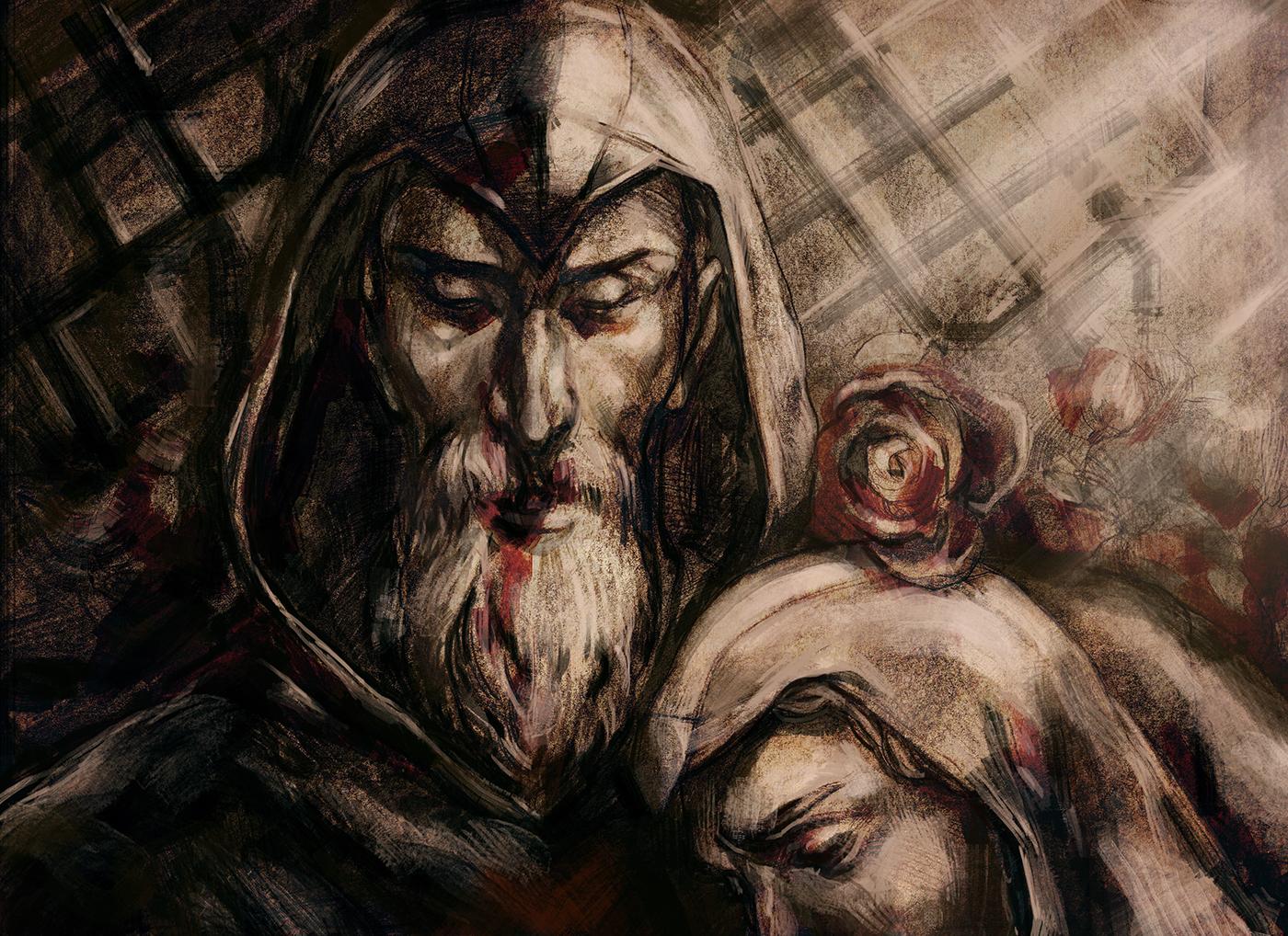 Al Mualim x Altair - Still by RisingMonster on DeviantArt