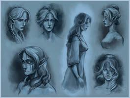 Almalexia_heads by RisingMonster