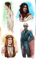 Dragon Age II sketches by PaleCaesar