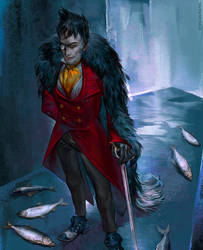 Gotham TV Series: Penguins Eat Fish by RisingMonster