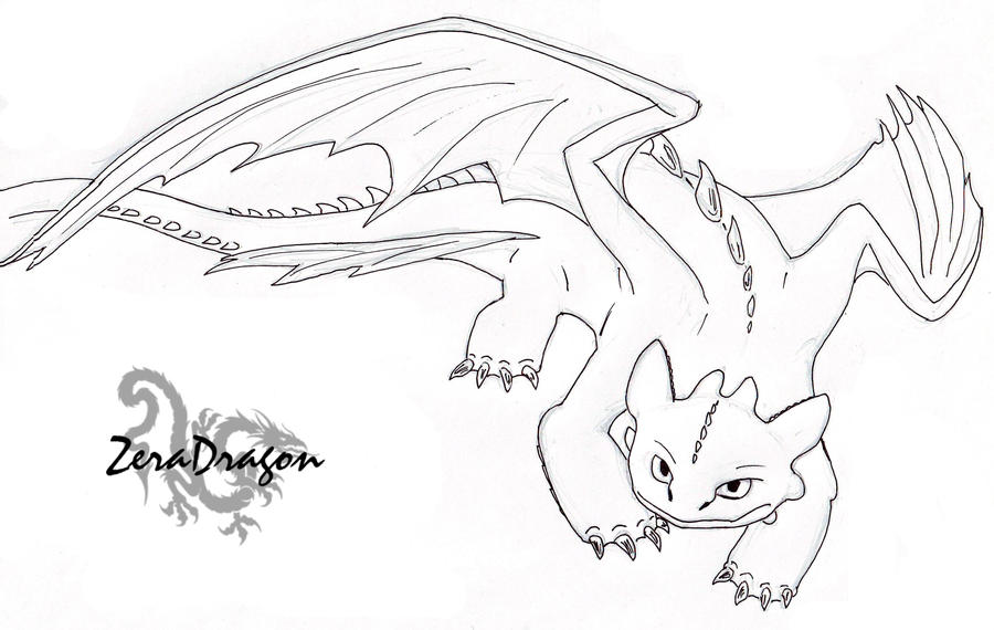 Toothless by mganga the lion on deviantart for Toothless dragon coloring pages