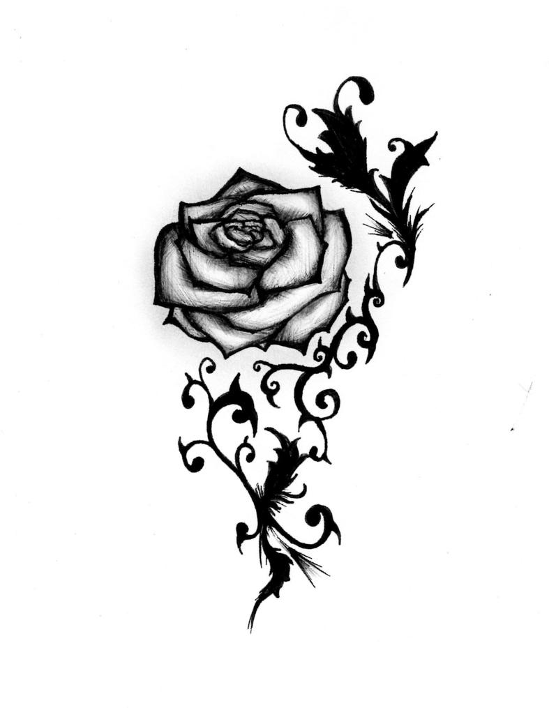 Rose Tattoo Design By MaliciousBunny