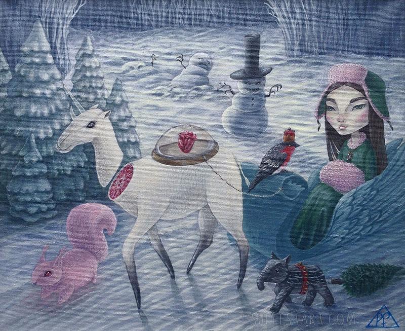 Frosty heart by Polina-Shelest