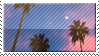 Palm Trees Stamp - FTU by RetroHoodie