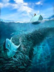 Jeremy Norton Illustration - Fishing by JeremyNorton