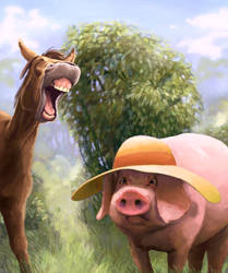 Laughing at Lucy's Hat by JeremyNorton
