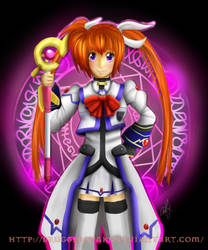 Nanoha, The Magical Girl. by DruggedOtaku