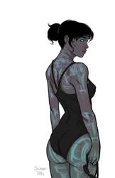 Cyborg girl - swimsuit edition
