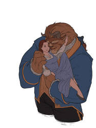 Beauty and the Beast wip by red-monkey