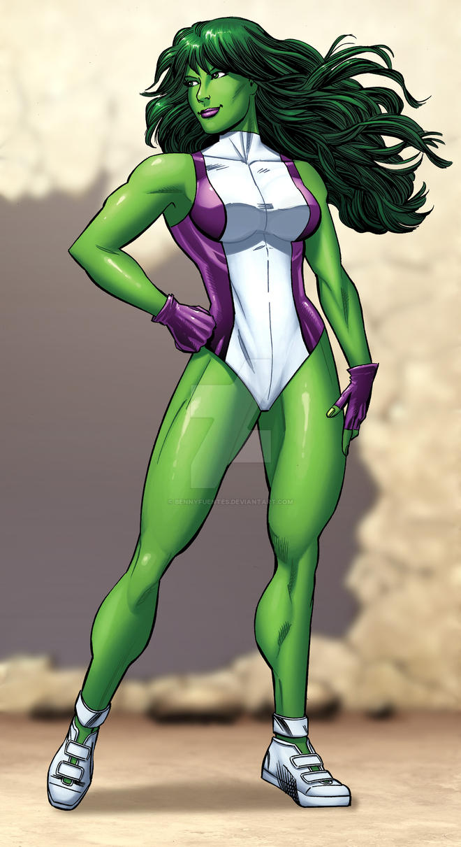 She-Hulk by bennyfuentes