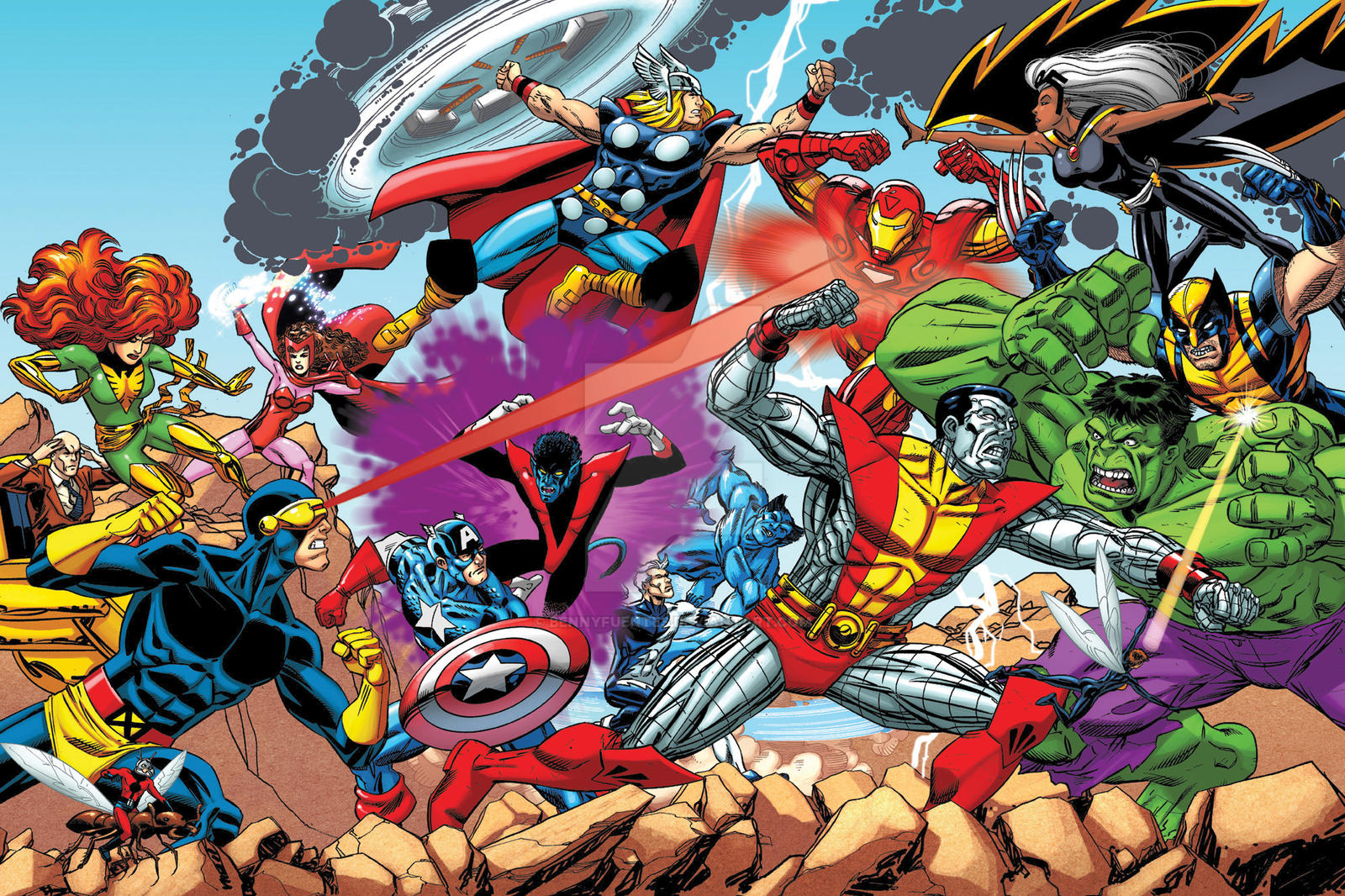Marvel Super Heroes Greatest Battles A v X by bennyfuentes