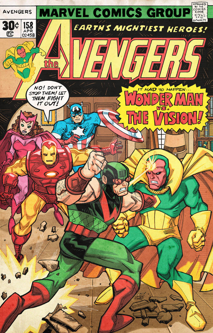 The Avengers issue 158 homage cover by bennyfuentes