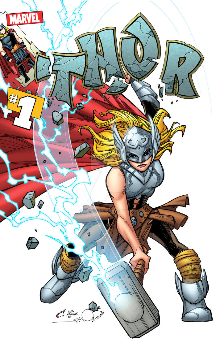Thor cover homage to Walter Simonson by bennyfuentes
