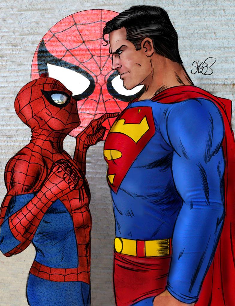 Супермен против человека паука