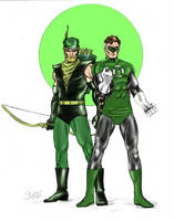 Green Lantern Green Arrow by markman777