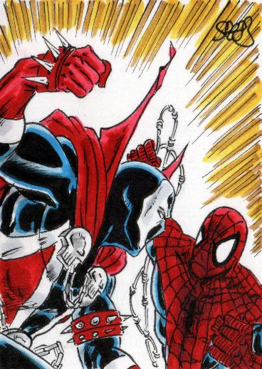 Spawn vs Spider-man by markman777