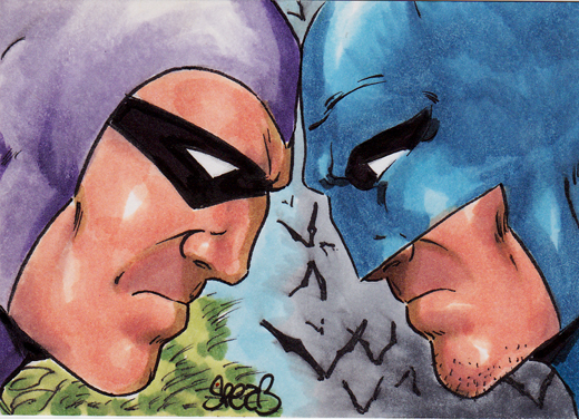 The Phantom vs Batman by markman777