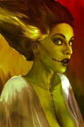 Mark Spears Monsters 'Bride of Frankenstein' by markman777