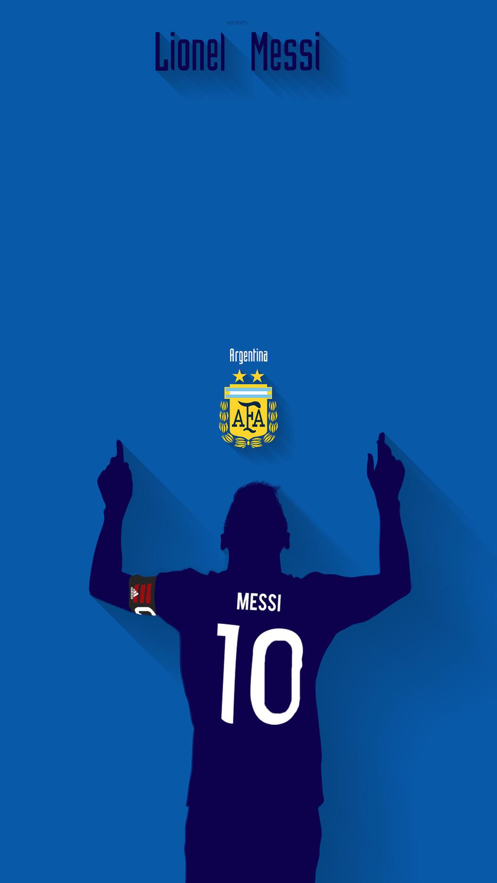 Lionel Messi Argentina Lockscreen Wallpaper HD By Adi 149
