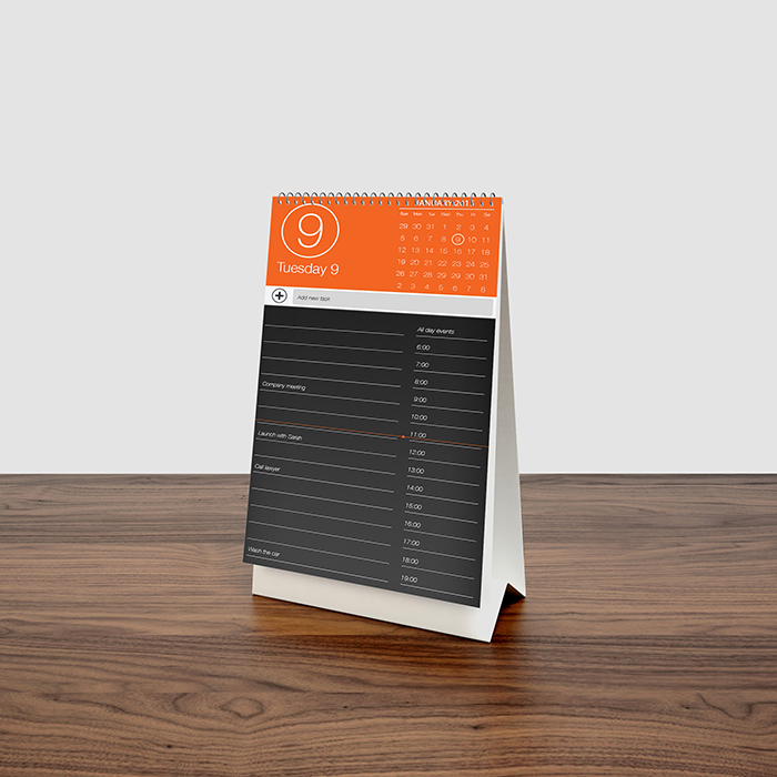 Desk Calendar MockUp by graphictwister