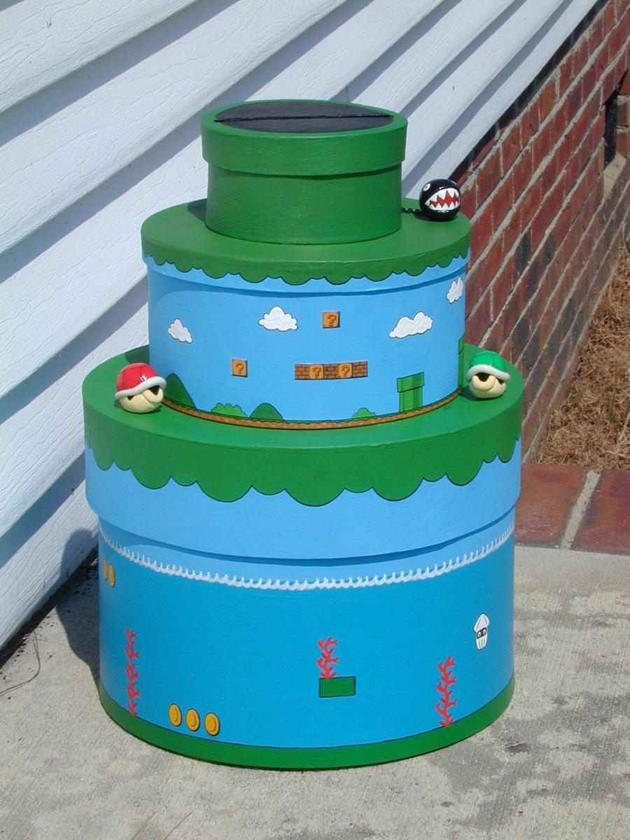 Mario Themed Wedding Card Box by jen4eternity