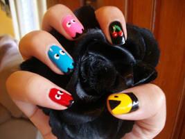 Cute Pacman Nails