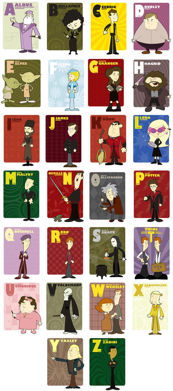 Harry Potter alphabet All finished by jksketch