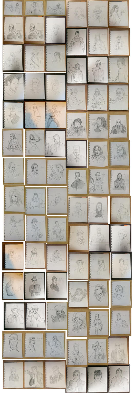 January - goal of 1000 drawings in 2016 by jksketch