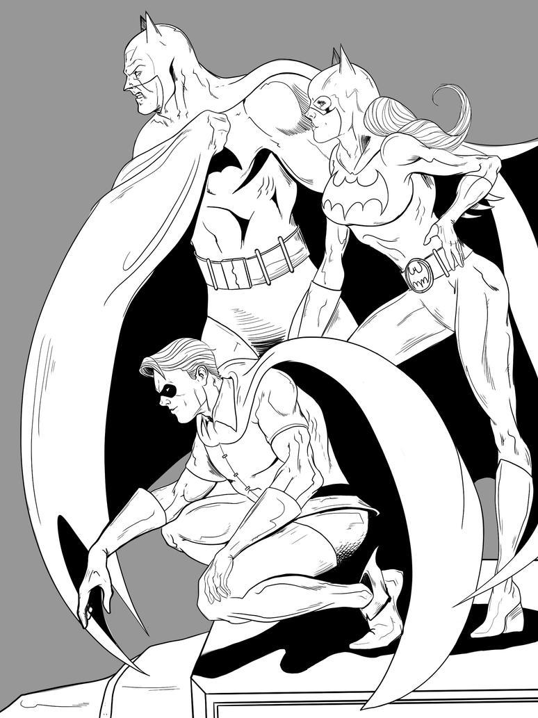 Bat Family by jksketch
