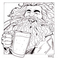 Day 12 - whale - Hagrid (wh)ale by jksketch