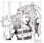 Day 13 - Guarded - Bellatrix Lestrange by jksketch