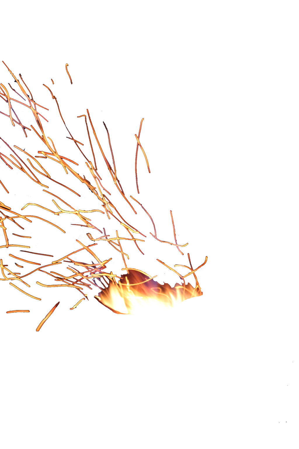 Fire Sparks Png Stock by