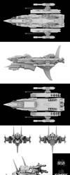 Mizuchi-Class Gunship Isonade by mus0u