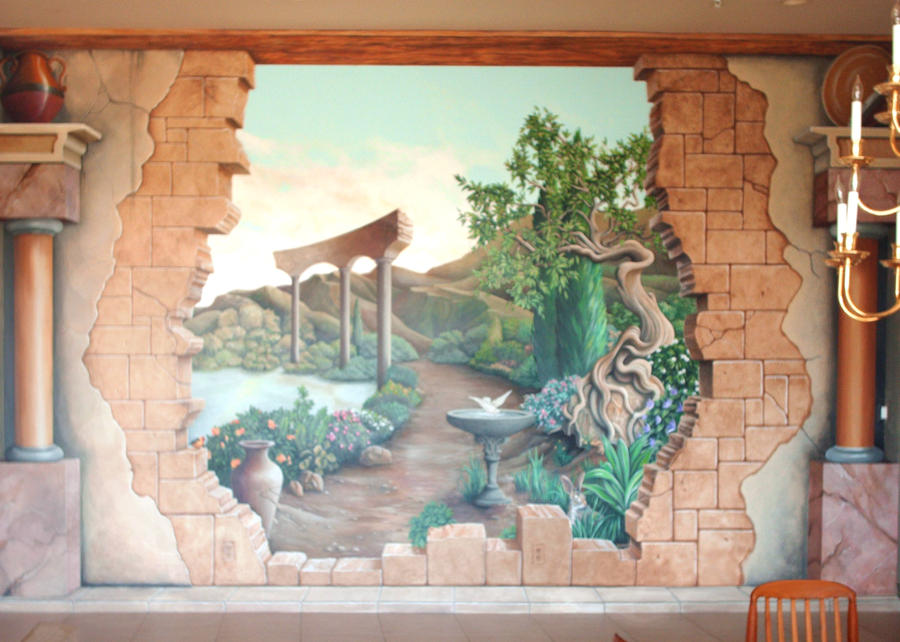 broken wall mural by gallery of art on deviantart