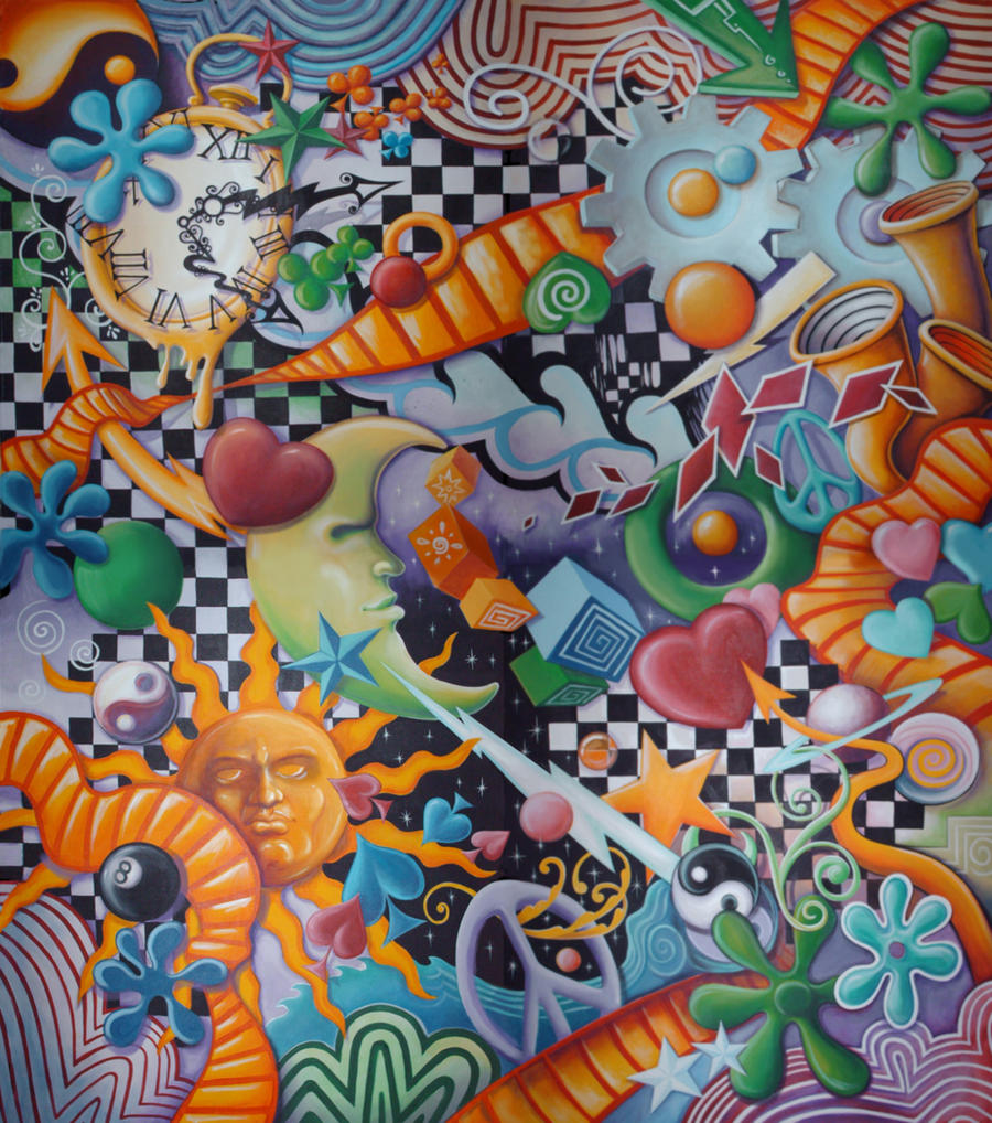 Abstract mural full image by gallery of art on deviantart for Abstract mural painting