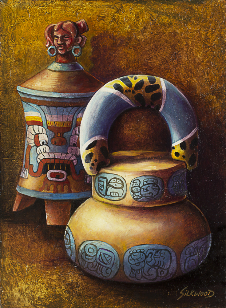 MAYAN POTTERY by Gallery-of-Art