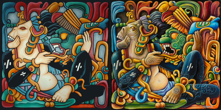 'JAGUAR PRIEST' ~ Before and After by Gallery-of-Art