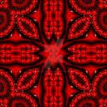 3D effect - beauty in red