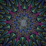 Jwildfire polygonal mandala style graphic