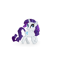 Rarity Pixel Art by Gratlofatic