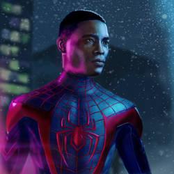 Miles Morales Spiderman PS5 by Ralanart