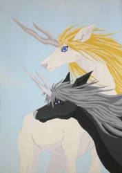 Enki and Taiki by Ganieda