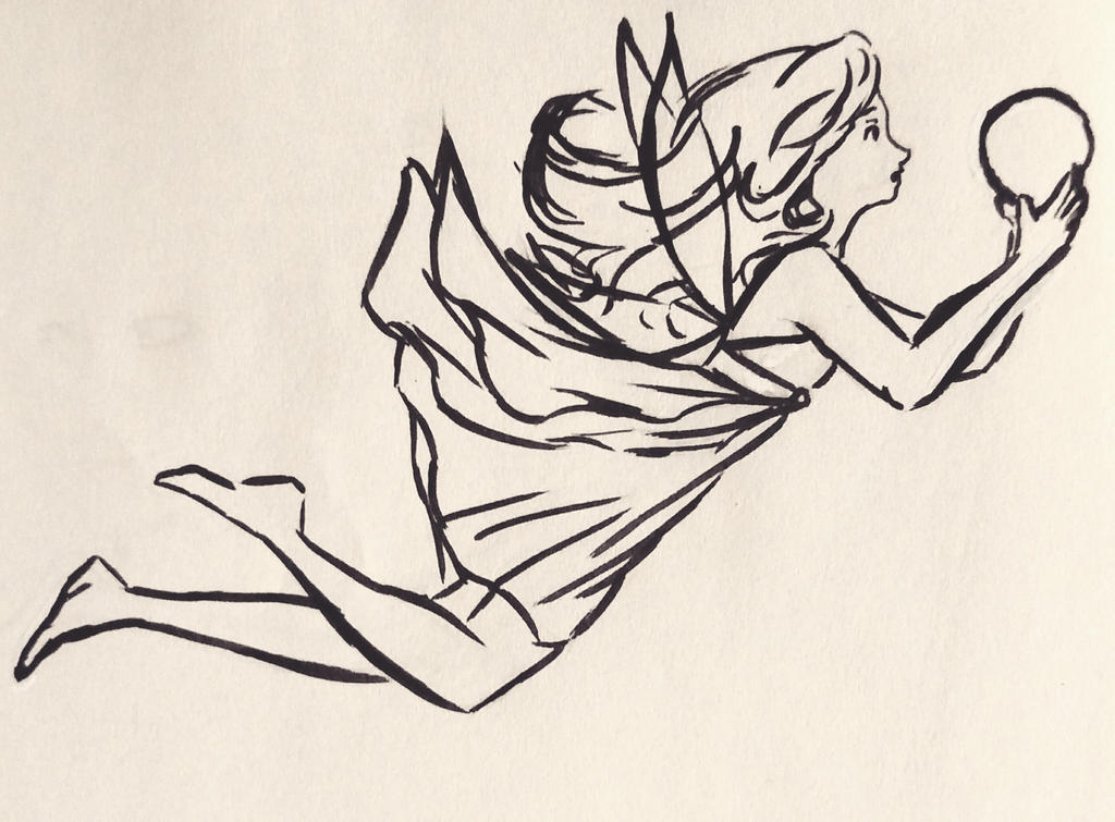 Erena ink doodle by LonelyCitadel