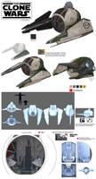Star Wars Clone Wars Yoda Interceptor Season 6