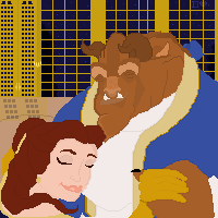 Beauty and the Beast Pixel by DixieLuve