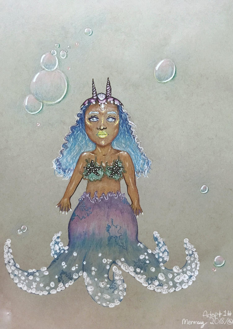 Adoptable! Mermay Characters/ 1# Starfish Mermaid by DixieLuve