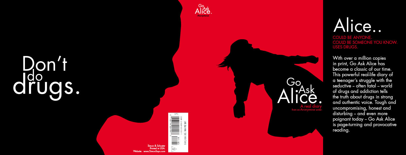 go ask alice book cover by glinkdesign on  go ask alice book cover 1 by glinkdesign