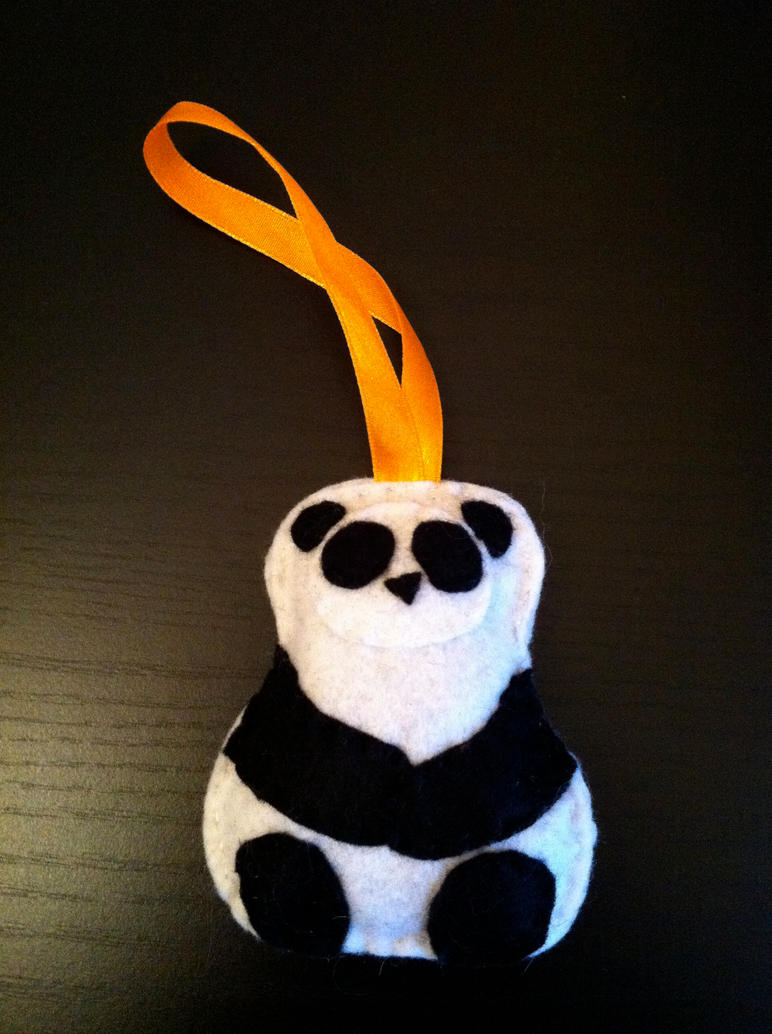 Panda ornament by akillertofu