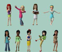 Modern Disney Princess Meez by Canadian-gurl123